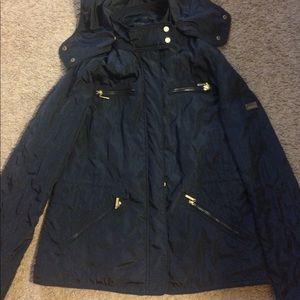 ZARA BASIC Navy Blue Quilted Jacket